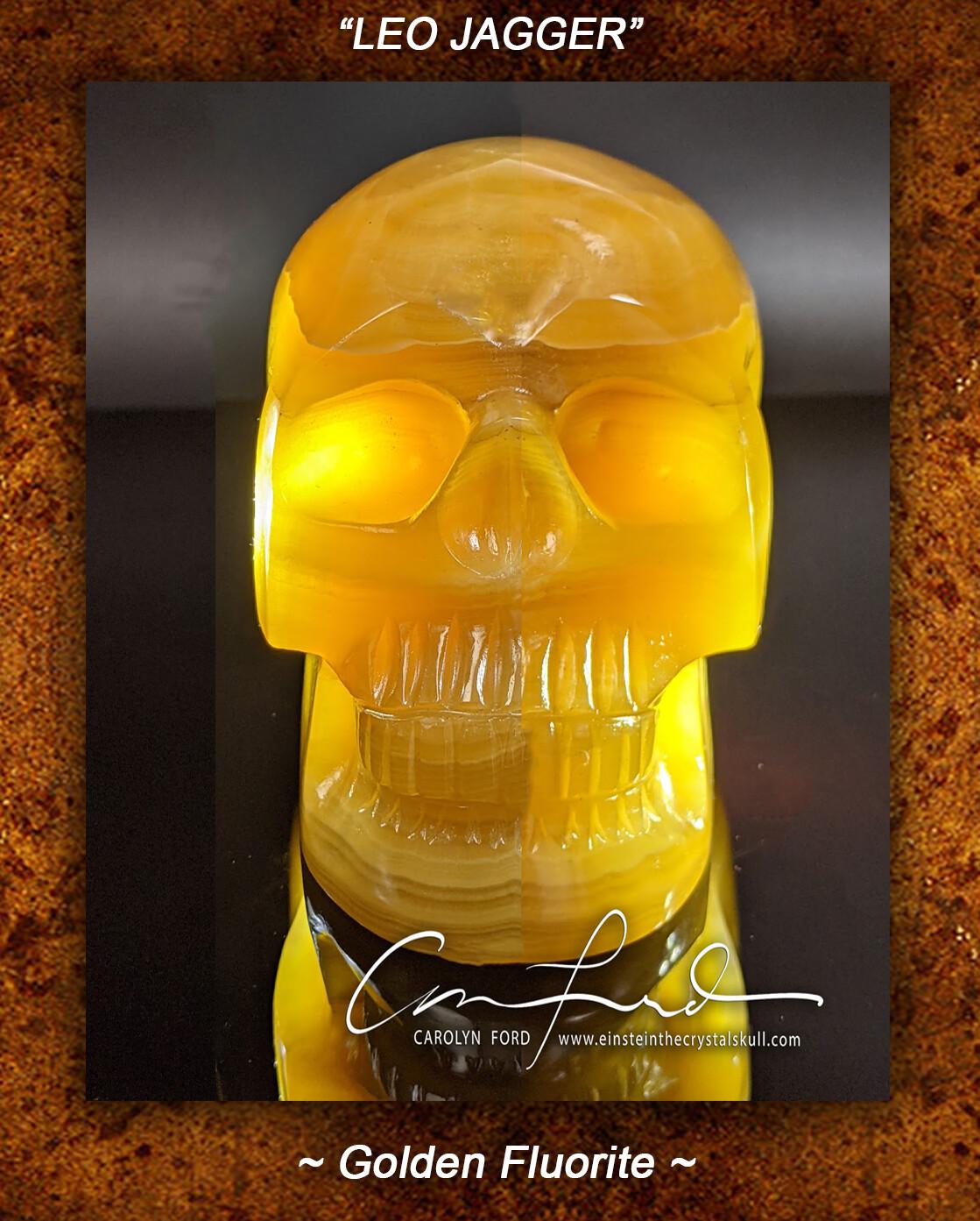 Fluorite (Golden) Einstein Imprinted Crystal Skull