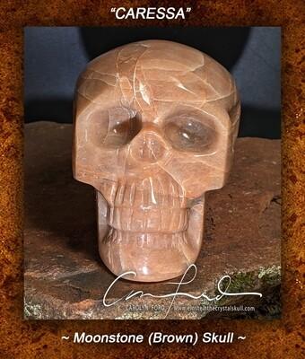 MOONSTONE  Skull, Einstein Imprinted,