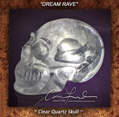 Clear Quartz Crystal Skull, Einstein Imprinted