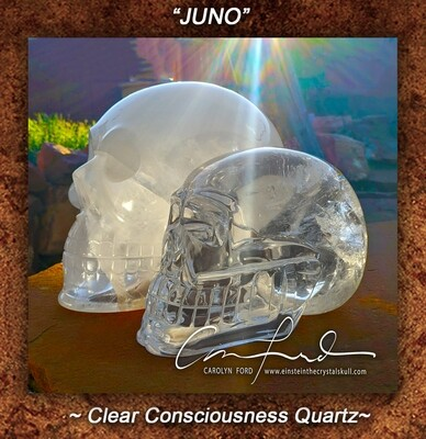 Clear Quartz Crystal,  Einstein Imprinted,