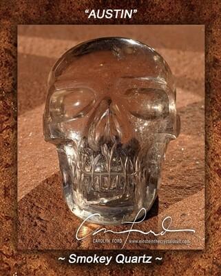 Smokey Quartz Crystal Skull, Einstein Imprinted