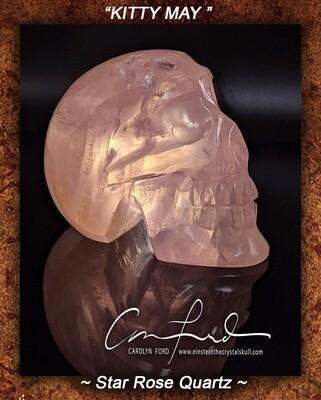 ROSE (STAR) Quartz Crystal Skull, Einstein Imprinted