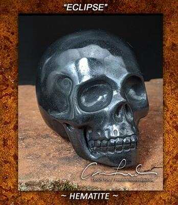 HEMATITE  Einstein Imprinted Skull,