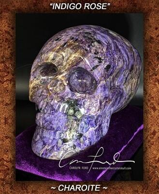 Charoite Skull, Einstein Imprinted