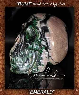 EMERALD Skull  Einstein Imprinted Skull