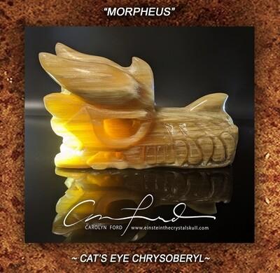 Cat's Eye Chrysoberyl Dragon, Einstein Imprinted,