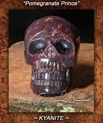Ruby Kyanite ~ Einstein Imprinted Skull,