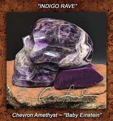 Chevron Amethyst Skull ~ Baby Einstein ~ Einstein Imprinted