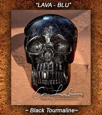 BLACK TOURMALINE, Einstein Imprinted Skull -