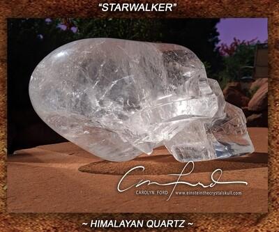 Himalayan Quartz Crystal, Einstein Imprinted Skull The