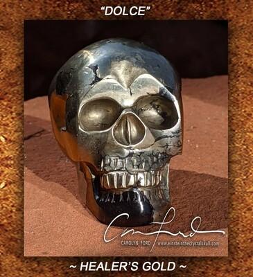 HEALER'S GOLD - Skull, Einstein Imprinted