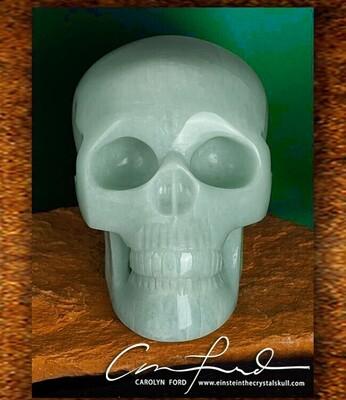 AMAZONITE Skull, Einstein Imprinted