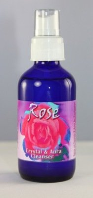 Rose Spray (Crystal and Aura Cleanser) Organic Rose Absolute with Vibrational Essences