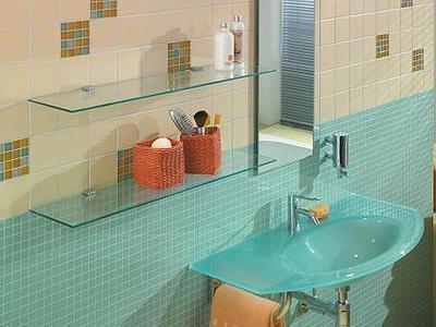 2 estantes de cristal con soportes (60x15)