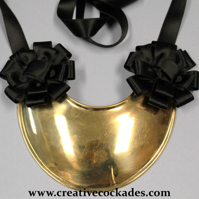 Silk Gorget Rosettes - Set of 2