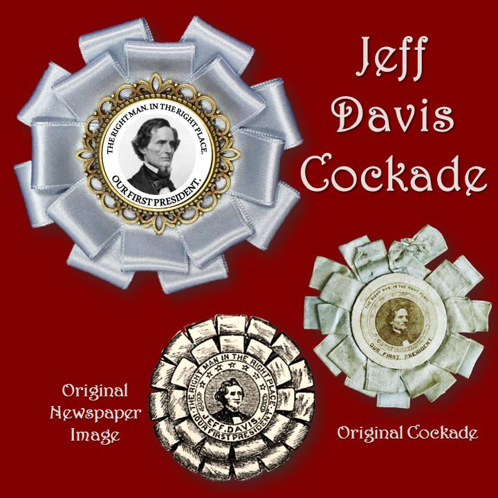 Blue Jefferson Davis Cockade