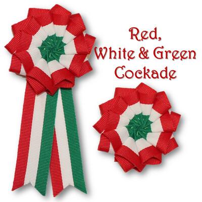 Red, White & Green Cockade