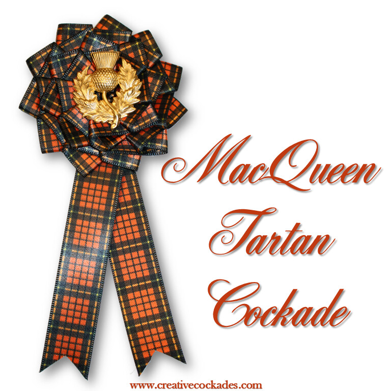 MacQueen Tartan Cockade