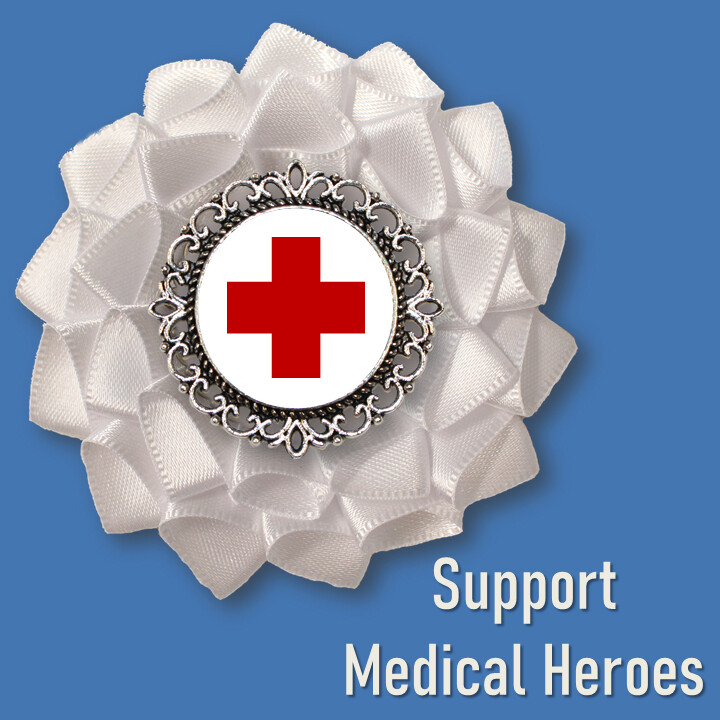 Support Medical Heroes Cockade