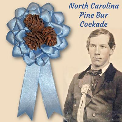 North Carolina Blue Pine Bur Cockade