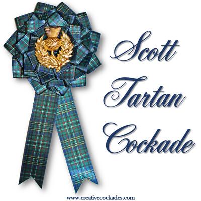 Scott Tartan Cockade