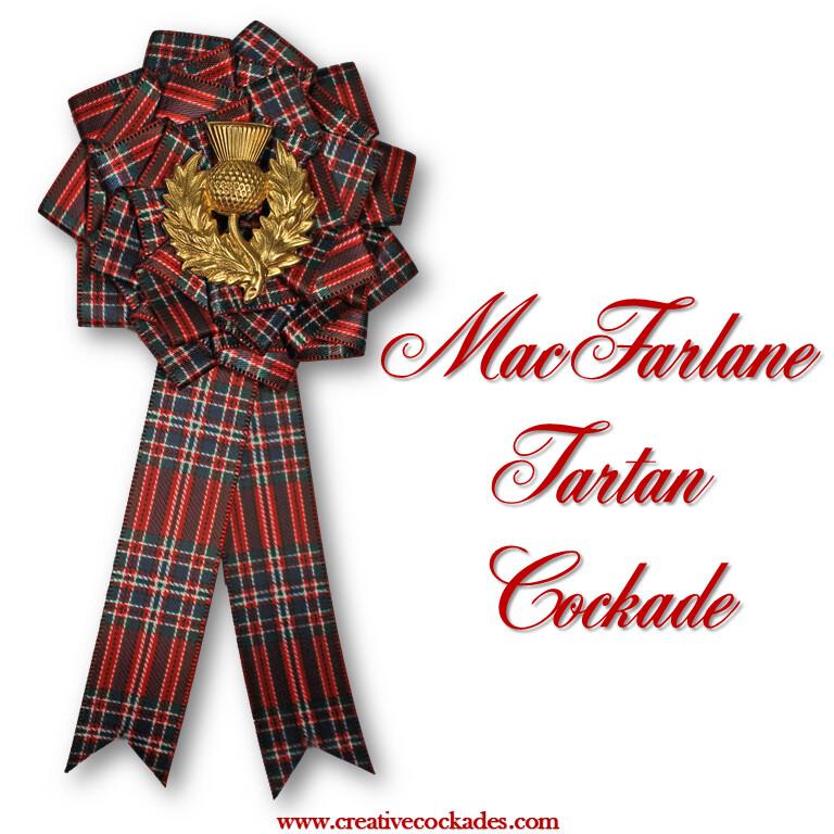 MacFarlane Tartan Cockade