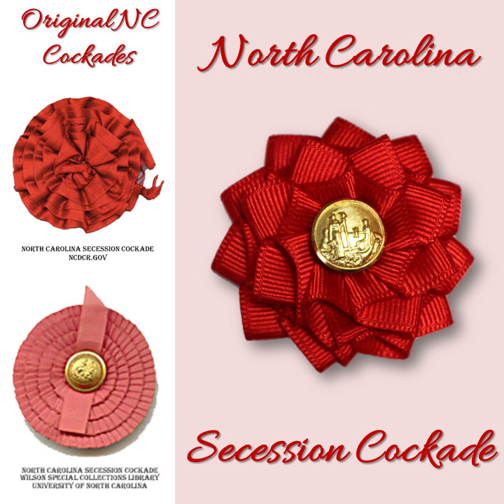 North Carolina Red Secession Cockade