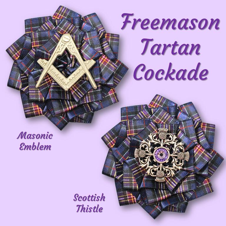 Freemason Tartan Cockade