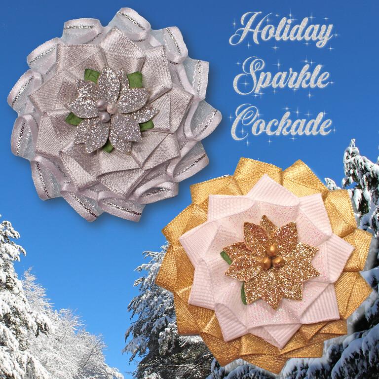 Holiday Sparkle Cockade