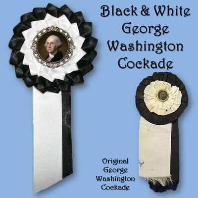 George Washington Black and White Cockade