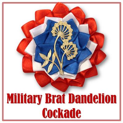 Military Brat Dandelion Cockade