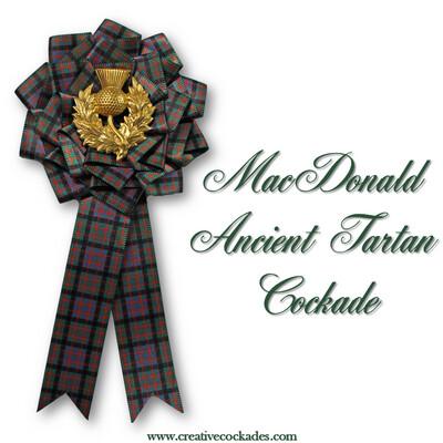 MacDonald Ancient Tartan Cockade