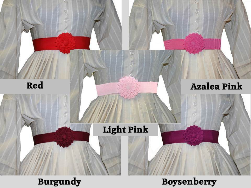 Shades of Rose - Petersham Rosette Belt