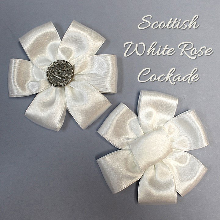 Scottish White Rose Cockade