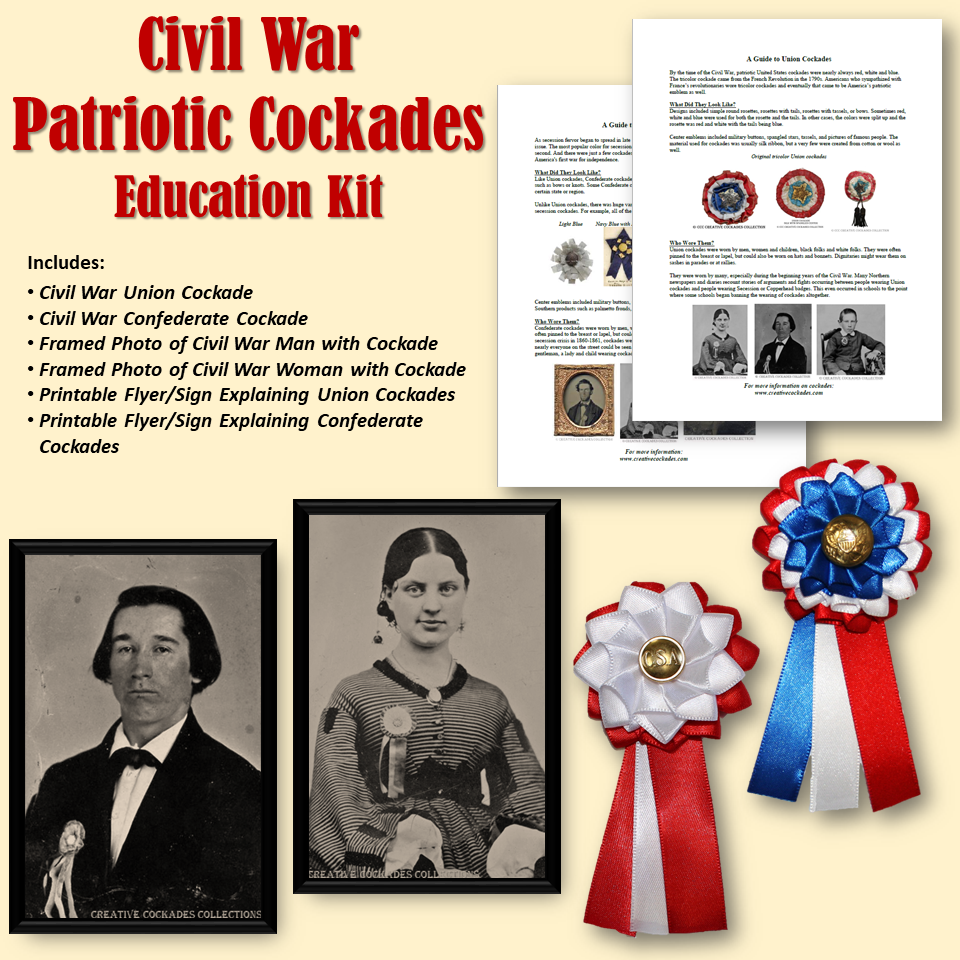 Civil War Patriotic Cockades - Education Kit
