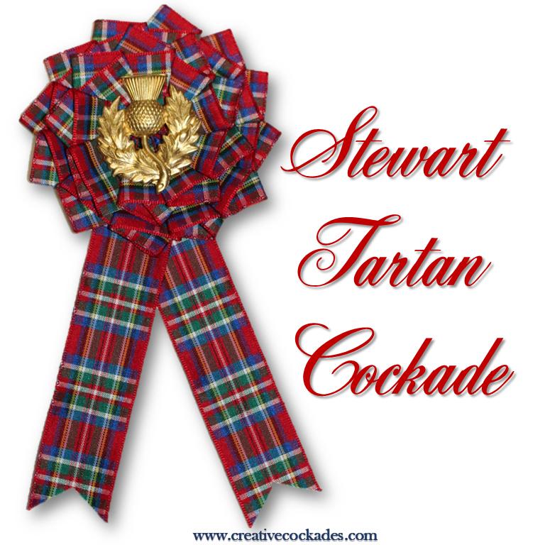 Stewart Tartan Cockade