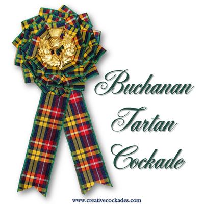 Buchanan Tartan Cockade