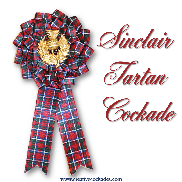 Sinclair Tartan Cockade