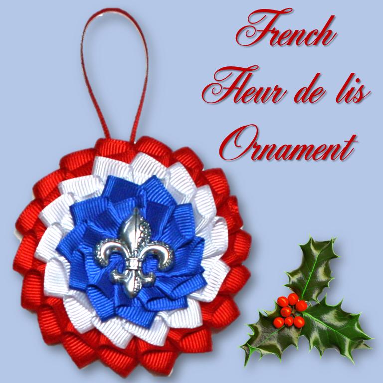 French Fleur de lis Ornament