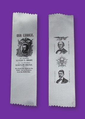 1868 Campaign Ribbon - Grant or Seymour
