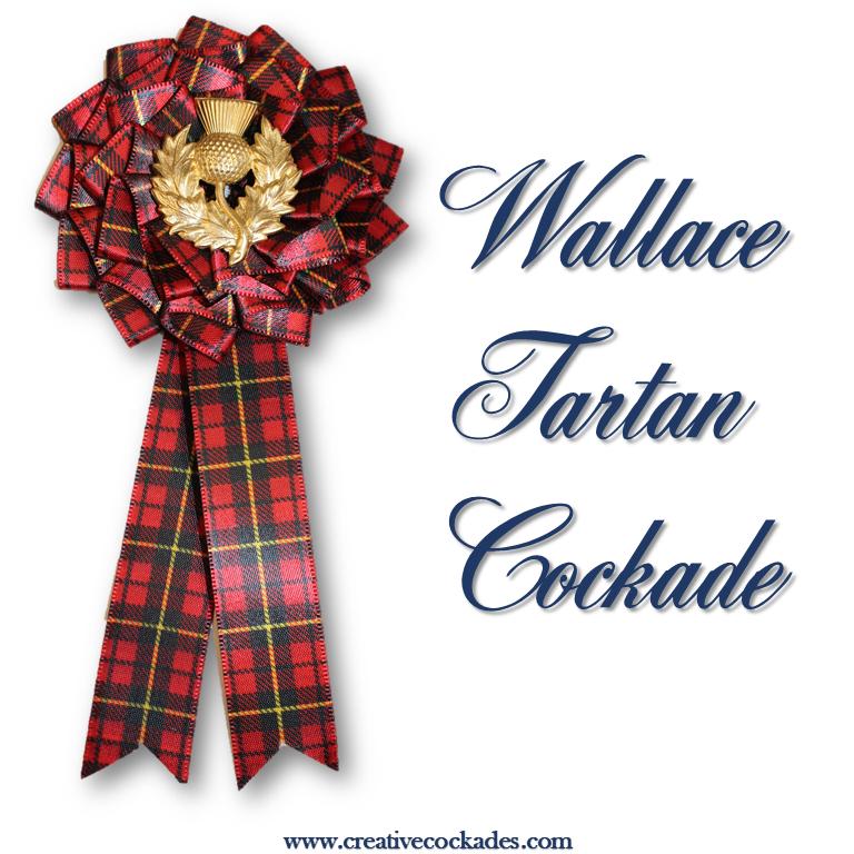 Wallace Tartan Cockade