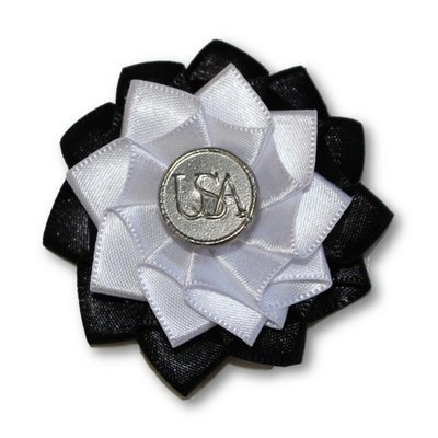 Revolutionary War Black & White Cockade