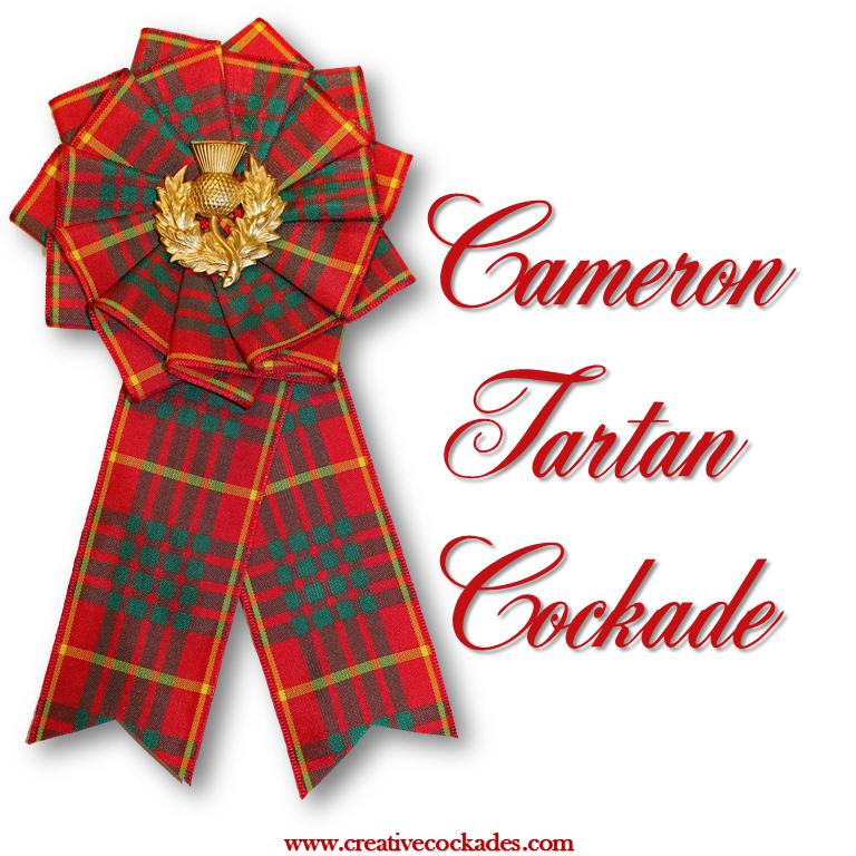 Cameron Tartan Cockade