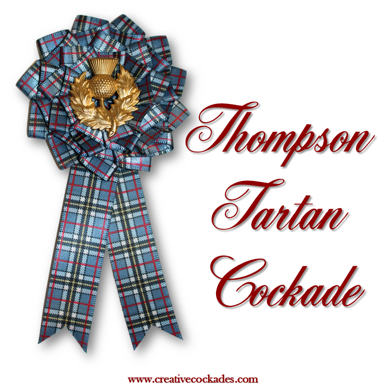 Thompson Tartan Cockade