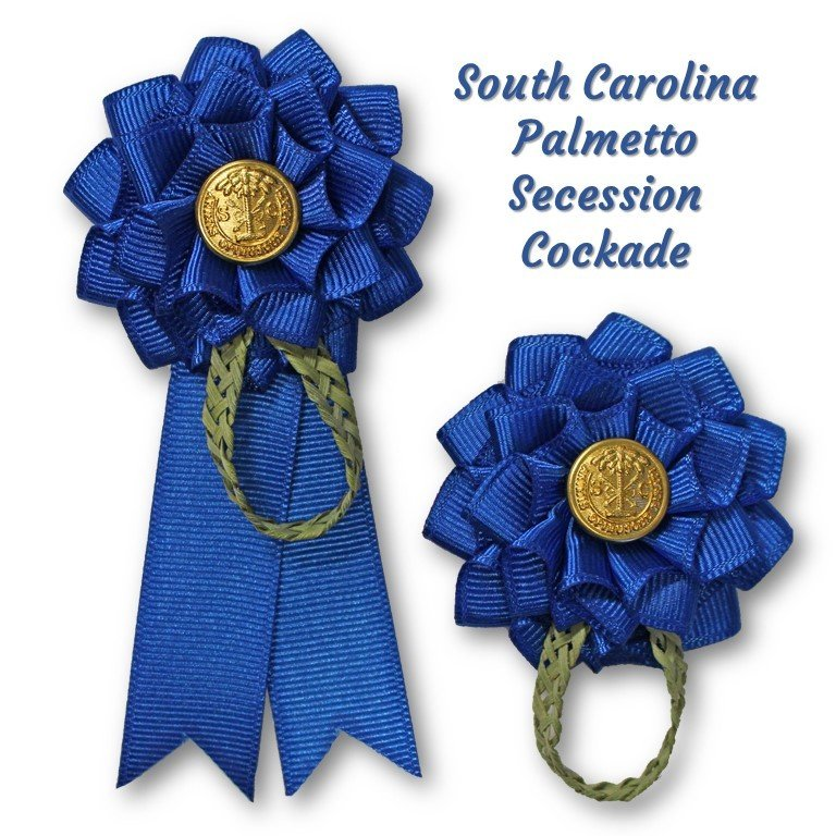 South Carolina Blue Palmetto Secession Cockade