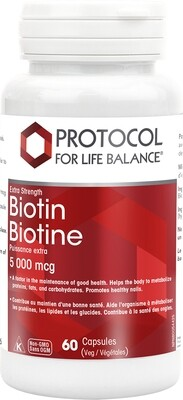 Biotin by Protocol for Life Balance