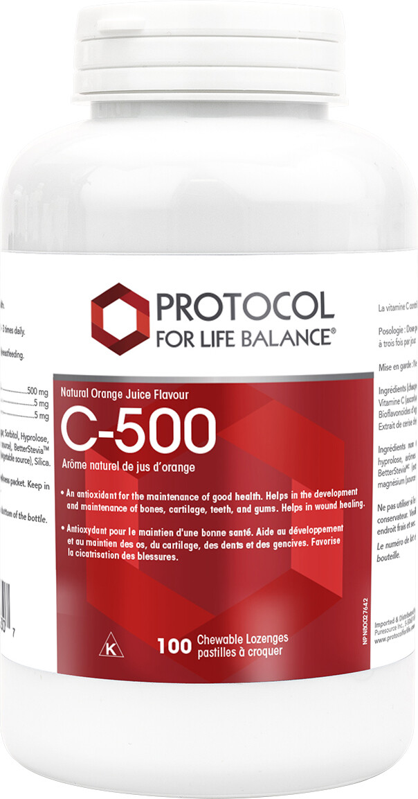 C-500 Chewable by Protocol for Life Balance