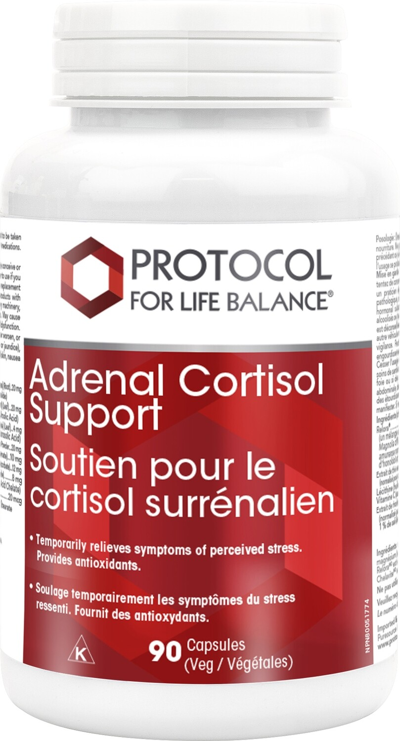 Adrenal Cortisol Support by Protocol for Life Balance