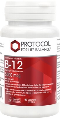 B-12 5000 mcg by Protocol for Life Balance