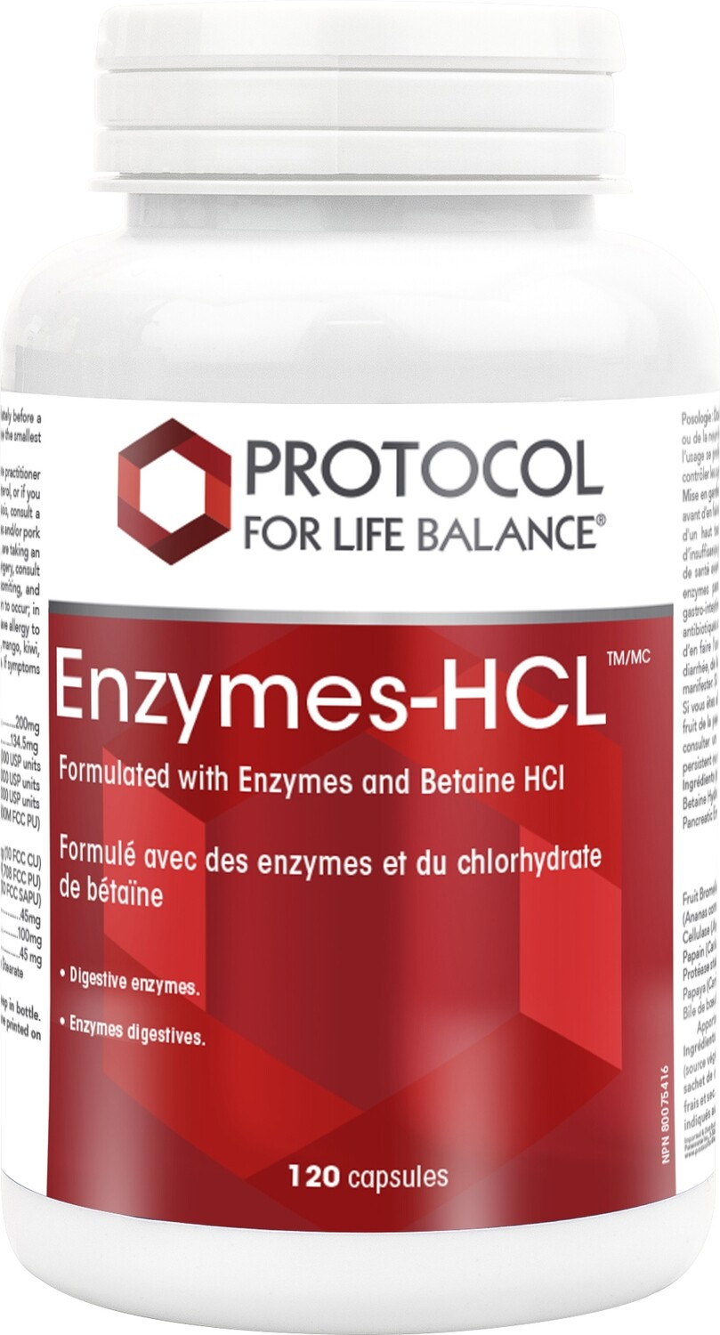 Enzymes-HCL by Protocol for Life Balance